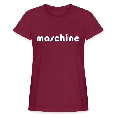 Frauen Oversize T-Shirt maschine - Frauen Oversize T-Shirt