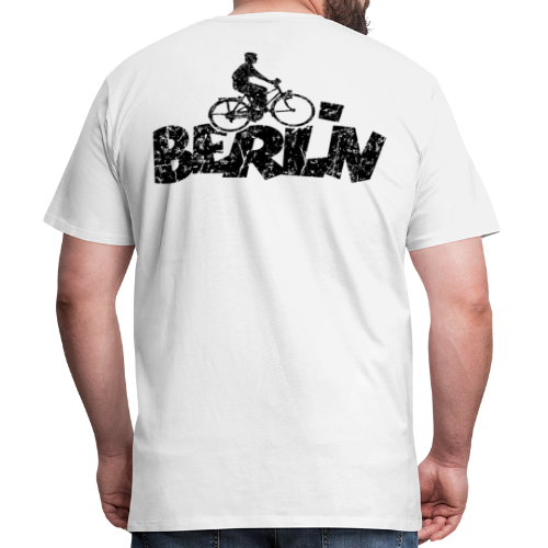 Berlin Premium Fahrrad T-Shirt für Berliner Fahrradfahrer - Männer Premium T-Shirt