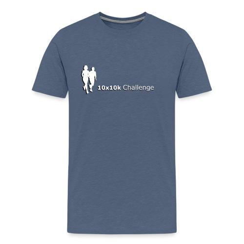 10x10k Challenge - Mens T-Shirt Grey - Men's Premium T-Shirt