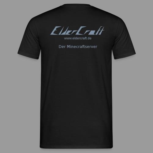 ElderCraft T-Shirt - Logo und eigener Name - Flockdruck - Männer T-Shirt