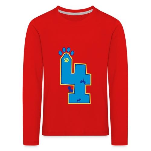 4th bday - Kinder Premium Langarmshirt