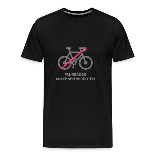Fahrräder anlehnen verboten - Männer Premium T-Shirt