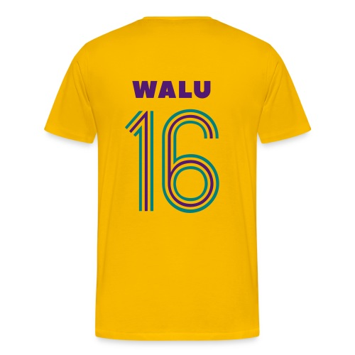 T-shirt Yellow Purple Walu - Men's Premium T-Shirt