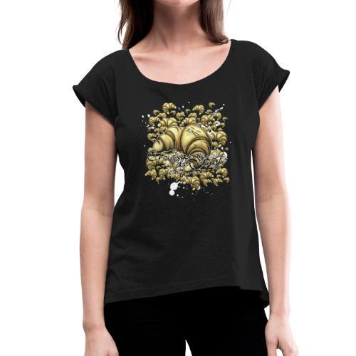 croissants- dix-neuf - Frauen T-Shirt mit gerollten Ärmeln