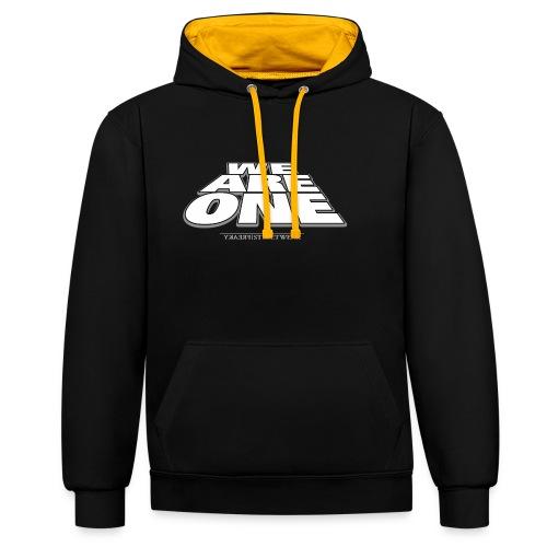 We are One2 - Kontrast-Hoodie