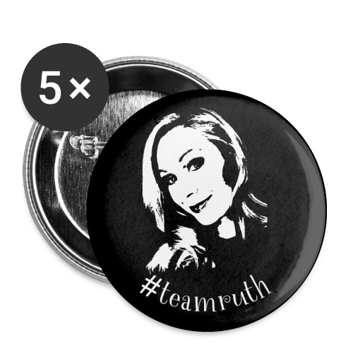 #teamruth - Button mittel - Buttons mittel 32 mm (5er Pack)
