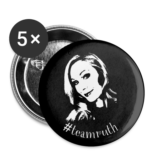 #teamruth - Button klein - Buttons klein 25 mm (5er Pack)