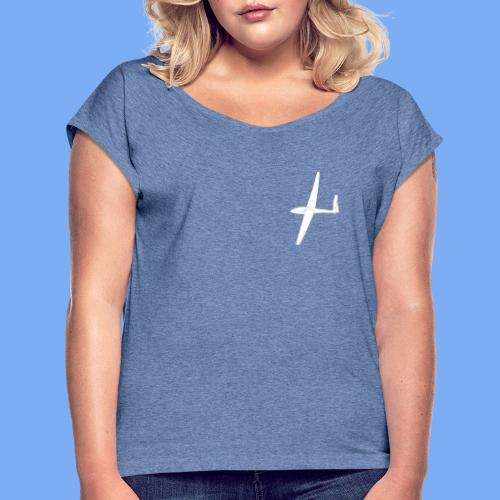 Segelflugzeug Junior SZD51 - Women's T-Shirt with rolled up sleeves