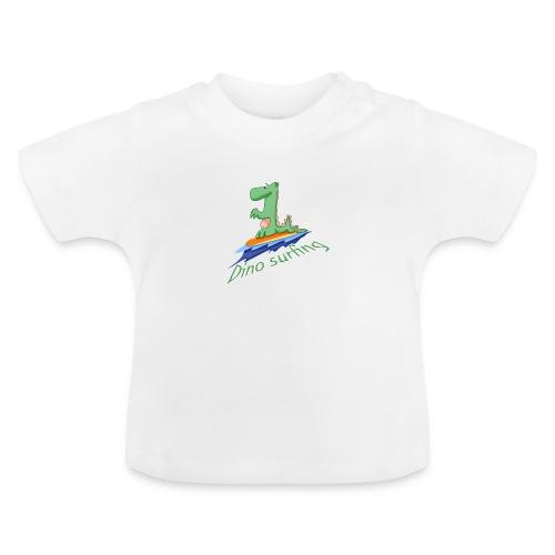 dino surfing - T-shirt Bébé