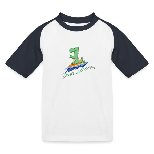 dino surfing - T-shirt baseball Enfant