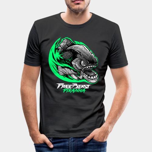 FREEBEAST PIRANHA Green - T-shirt près du corps Homme