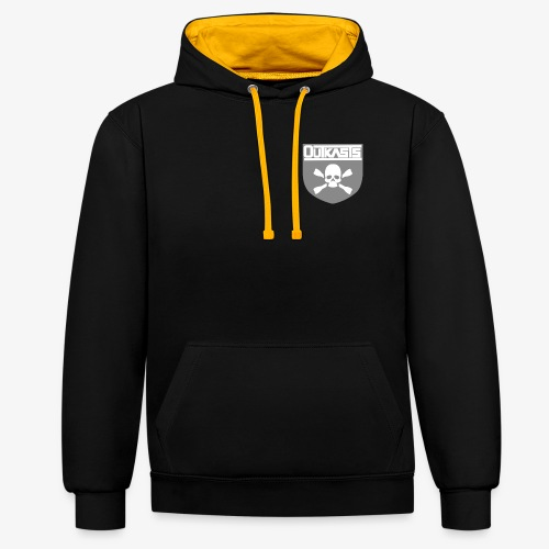 OutKasts.EU Skull Contrast Colour Hoodie - Contrast Colour Hoodie