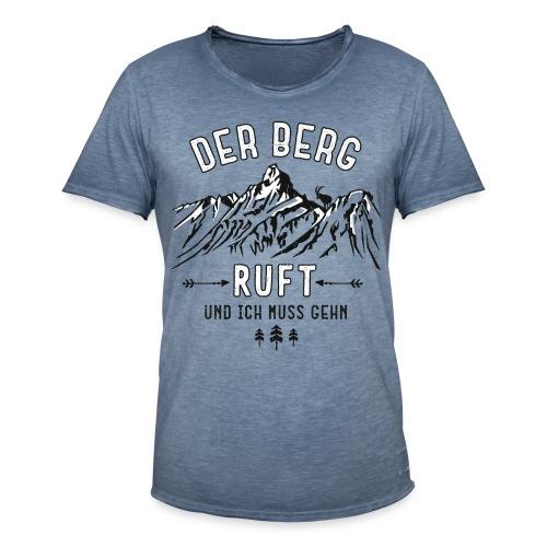 Der Berg ruft - Männer Vintage T-Shirt