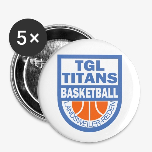 TGL Titans Fan Buttons - Buttons mittel 32 mm (5er Pack)
