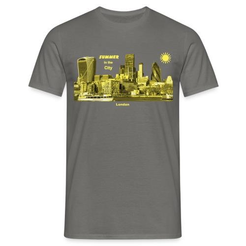 London Skyline City Summer - Männer T-Shirt