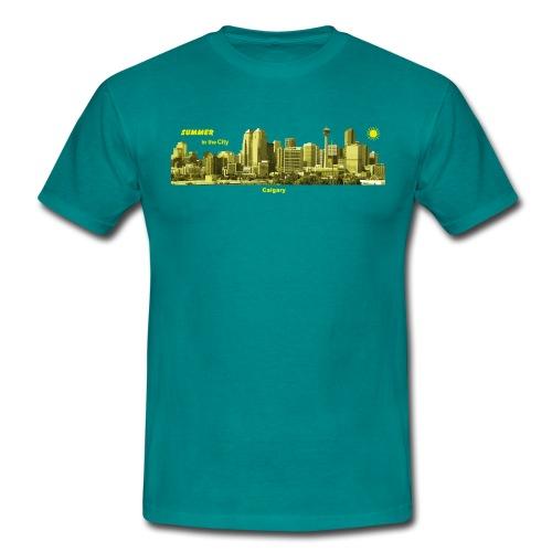 Calgary Skyline Kanada Summer - Männer T-Shirt