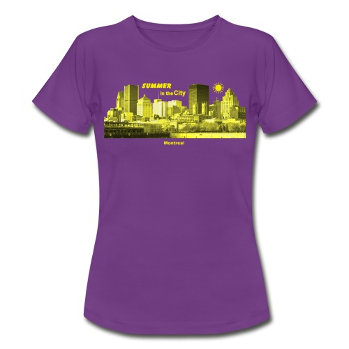 Montreal Skyline Kanada Summer - Frauen T-Shirt