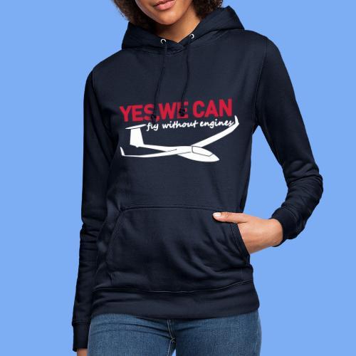 Lustiger Segelflieger Spruch gleiten Geschenk Segelflug Segelfliegen T-Shirt Bekleidung Shop Flieschen Hoodie Polohemd Taschen Pullover - Women's Hoodie