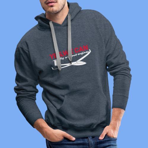 Lustiger Segelflieger Spruch gleiten Geschenk Segelflug Segelfliegen T-Shirt Bekleidung Shop Flieschen Hoodie Polohemd Taschen Pullover - Men's Premium Hoodie
