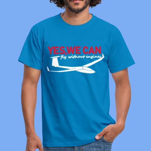 Lustiger Segelflieger Spruch gleiten Geschenk Segelflug Segelfliegen T-Shirt Bekleidung Shop Flieschen Hoodie Polohemd Taschen Pullover - Men's T-Shirt