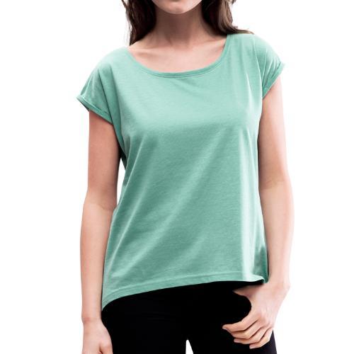 Camiseta personalizable con manga enrollada mujer - Camiseta con manga enrollada mujer