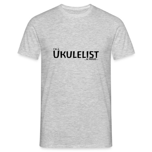 Ukulelist - black on light - Men's T-Shirt