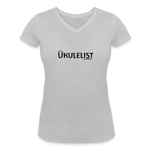 Lady Ukulelist - Women's Organic V-Neck T-Shirt by Stanley & Stella