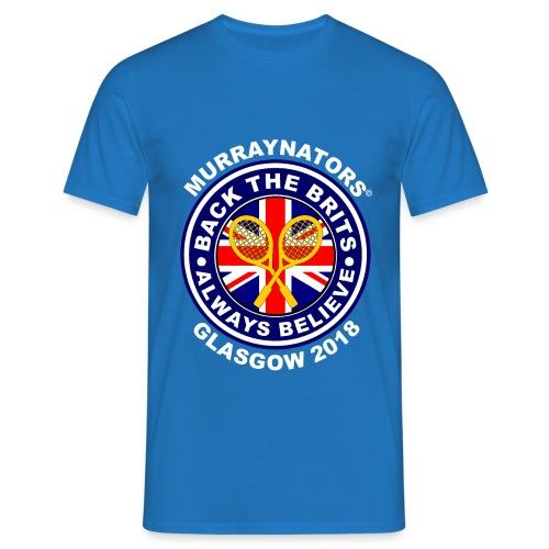 Murraynators - Davis Cup Glasgow - Mens Crew Neck T. Blue. - Men's T-Shirt