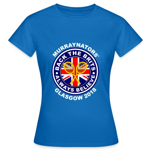 Murraynators - Davis Cup Glasgow - Ladies' Crew Neck T. Blue. - Women's T-Shirt