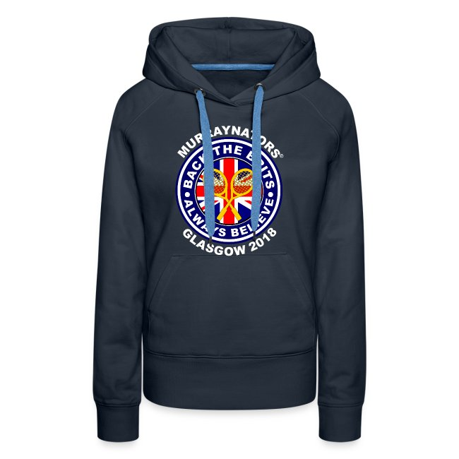 Murraynators - Davis Cup Glasgow - Ladies' Hoodie. Navy.