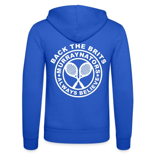 Murraynators - Davis Cup Back The Brits - Unisex Hooed Jacket. Blue. - Unisex Hooded Jacket by Bella + Canvas