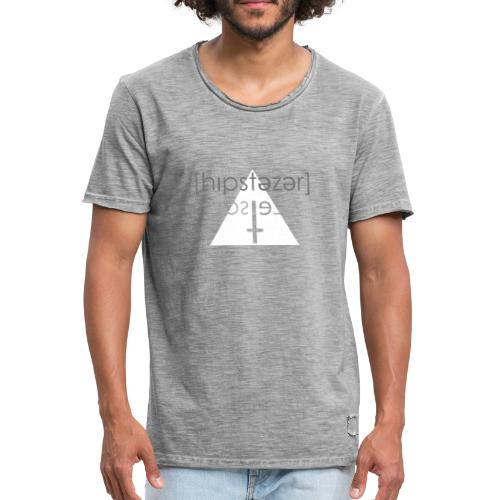Hipstezer - Kreuz - Männer Vintage T-Shirt