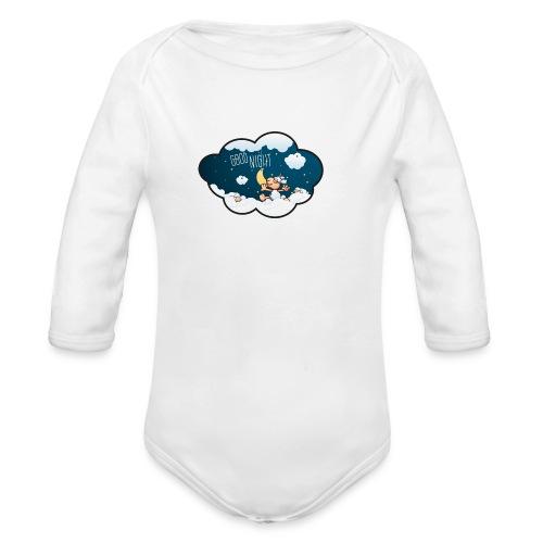 Gute Nacht Schafe zählen - Baby Bio-Langarm-Body