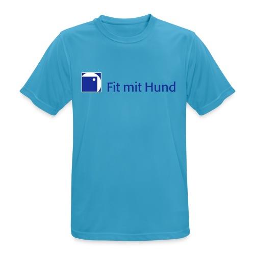 Fit mit Hund® T-Shirt Mann - helle Farben (atmungsaktiv) - Männer T-Shirt atmungsaktiv