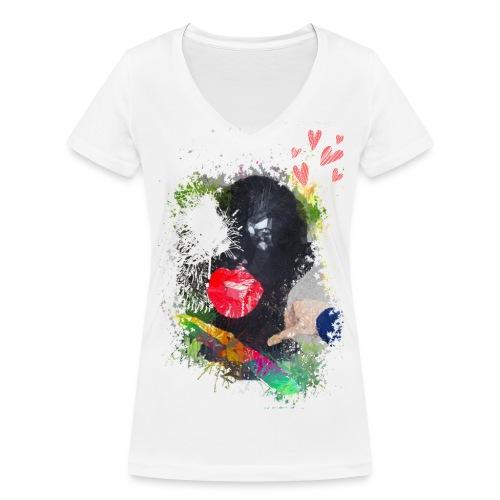 FETISH FACE - T-shirt bio col V Stanley & Stella Femme