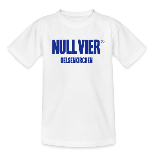 KIDS NULLVIER GE SHIRT WEISS BLAU - Kinder T-Shirt