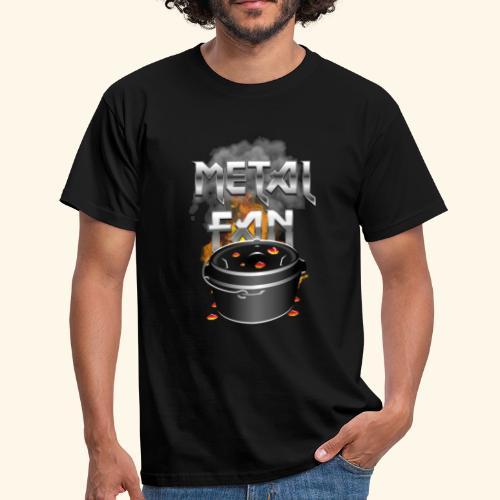 Grill-T-Shirt Dutch Oven Metal Fan - Männer T-Shirt