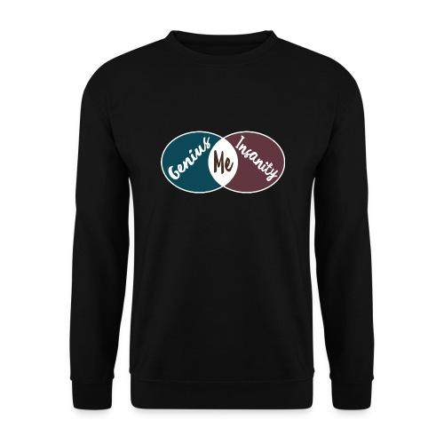 Nerd Geek Spruch Genie Wahnsinn Schnittmenge Pullover - Männer Pullover