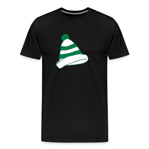 Kerbkappe Grün/Weiß (T-Shirt/Schwarz) - Männer Premium T-Shirt