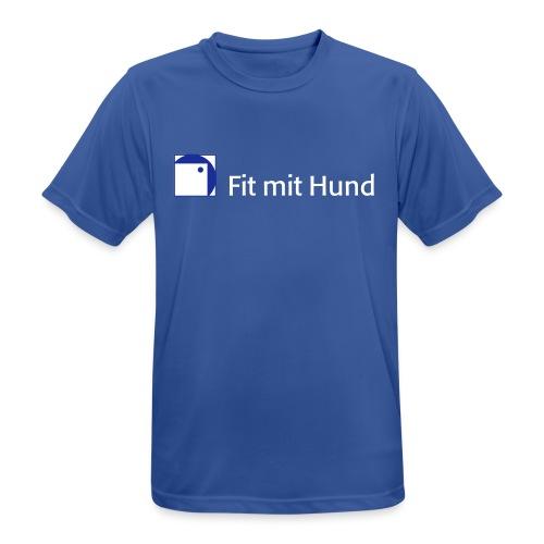 Fit mit Hund® T-Shirt Mann - atmungsaktiv (dunkle Farben) - Männer T-Shirt atmungsaktiv