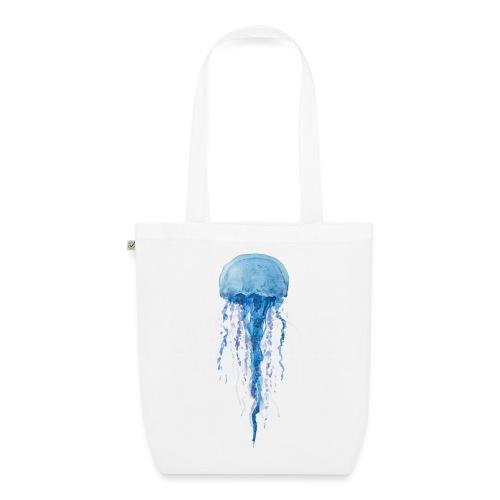 Medusa blau - Bio-Stoffbeutel