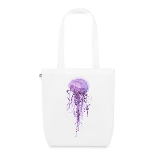 Medusa violett - Bio-Stoffbeutel