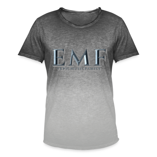 Vintage T-Shirt Color Gradient - EMF Shadow - Men's T-Shirt with colour gradients