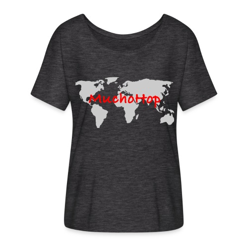 Camiseta mujer con mangas murciélago de Bella + Canvas - Esto es lo que nos gusta hacer, viajar por todo el mundo. 