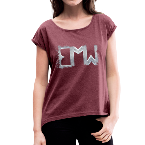 T-Shirt Women Rolled Sleeves - EMW - Women's T-Shirt with rolled up sleeves