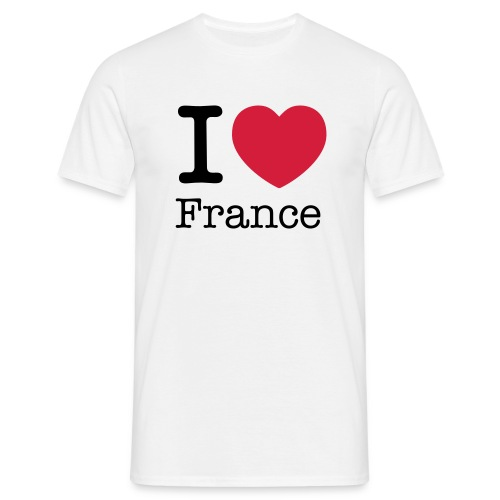 White I love France men's T-Shirt - Men's T-Shirt