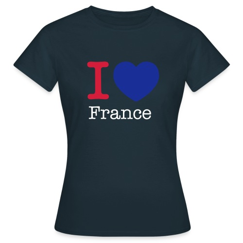 White I love France women's T-Shirt - Women's T-Shirt