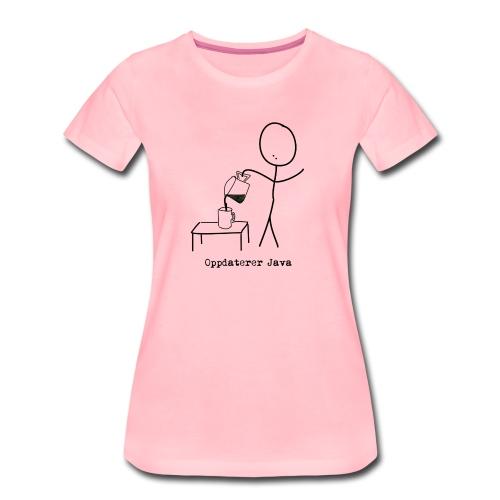 Oppdaterer Java - Premium T-skjorte for kvinner