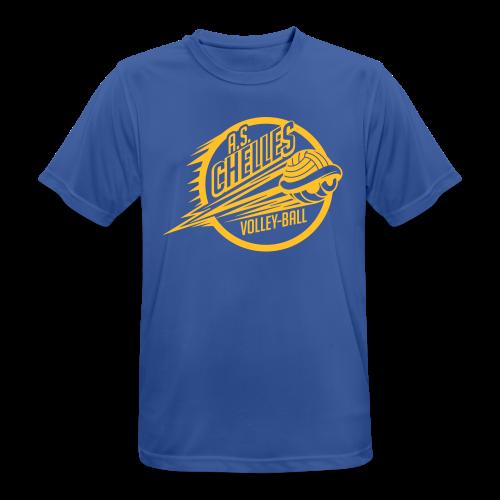 T-Shirt Respirant Homme Logo Bleu - T-shirt respirant Homme