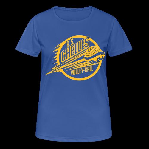 T-Shirt Respirant Femme Logo Bleu - T-shirt respirant Femme